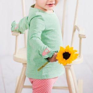 Matilda Jane | Green Grass Tee Ruffle Sleeve